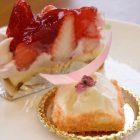 ゆずいちごタルト ¥400桜はちみつチーズケーキ ¥450
