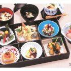 【彩膳・藍(あい)】25×37cm¥5,800小鉢/八寸/造り/焚き合わせ/焼き物/酢の物/天麩羅/味ご飯/吸い物/茶碗蒸し
