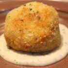 <コースの一例>きのこのライスコロッケ ブルーチーズのソース