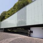 小笠原資料館(平成11年建設)日本の建築家ユニット※SANAA(サナア)が設計。